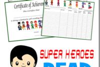 Summer Reading  Superhero Classroom Theme Hero Classroom for Summer Reading Certificate Printable