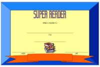 Super Reader Certificate Template 07  Super Reader in Reading Certificate Template Free