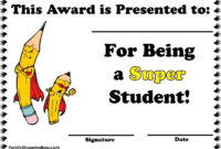 Super Student Award Awards  Student Awards Star Students within Printable Super Reader Certificate Template