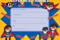 "Superhero Award Certificate 85"" X 11"" Pack Of 30 with regard to 10 Science Fair Winner Certificate Template Ideas"