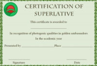 Superlative Certificate Template 10 Certificate Designs inside Most Likely To Certificate Template 9 Ideas