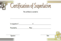 Superlative Certificate Templates Free 10 Great Designs in Best Great Job Certificate Template Free 9 Design Awards