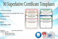 Superlative Certificate Templates Free 10 Great Designs within Amazing Job Well Done Certificate Template 8 Funny Concepts
