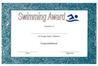Swimming Award Certificate Free Printable 1 In 2020 pertaining to Quality Pe Certificate Templates