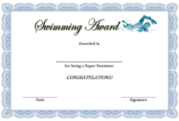 Swimming Award Certificate Free Printable 3 Free Swimming with Quality Honor Certificate Template Word 7 Designs Free
