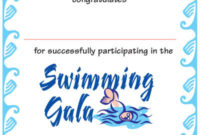 Swimming Certificate Sw01/B  Pixygraphics with regard to Free Swimming Certificate Templates