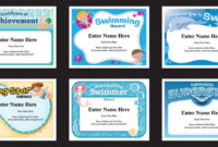 Swimming Certificates Templates  Swim Awards  Swimming Coach for Best Coach Certificate Template
