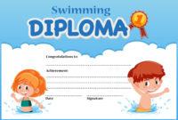 Swimming Diploma Certificate Template  Download Free in Free Swimming Certificate Templates