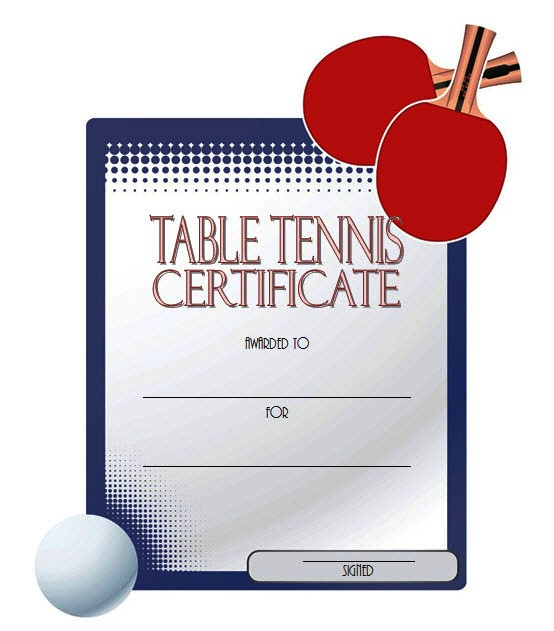 Table Tennis Certificate Templates Editable 10 Best Designs inside Quality Tennis Achievement Certificate Template