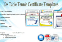 Table Tennis Certificate Templates Editable 10 Best Designs inside Tennis Achievement Certificate Template