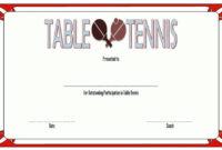 Table Tennis Certificate Templates Editable 10 Best Designs regarding Editable Tennis Certificates