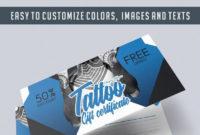 Tattoo Gift Voucher Elegantflyer throughout Tattoo Gift Certificate Template