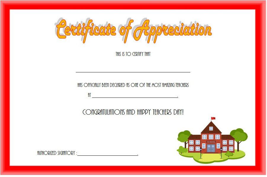 Teacher Appreciation Certificate Free Printable 10 Designs with regard to Best Best Teacher Certificate Templates Free
