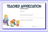Teacher Appreciation Certificate Free Printable 4 regarding Best Best Teacher Certificate Templates Free