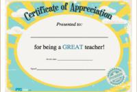 Teacher Appreciation Certificate From The Pto Today File with regard to Teacher Appreciation Certificate Templates