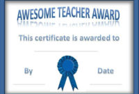 Teacher Of The Year Award Certificates  Customize Online pertaining to Super Reader Certificate Template