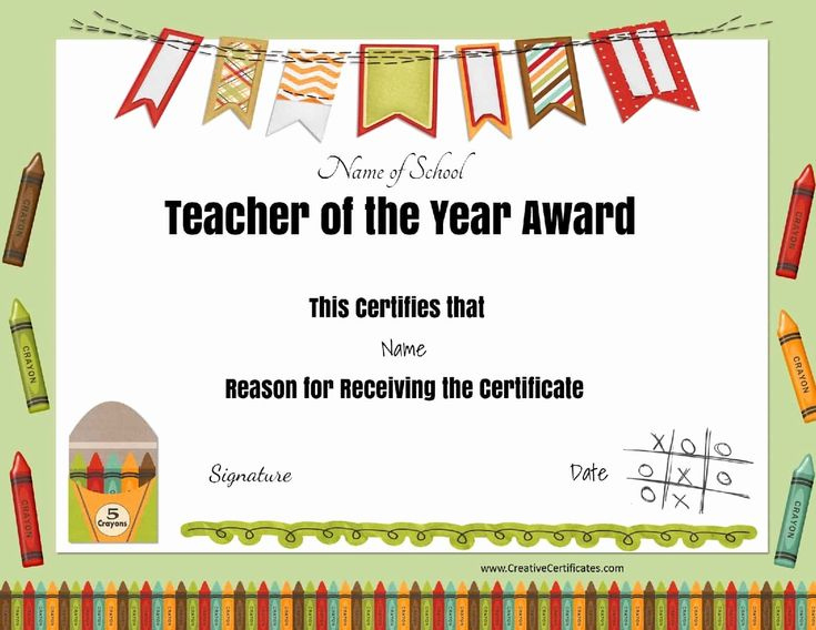 Teacher Of The Year Certificate Printable Luxury Free within Awesome Teacher Appreciation Certificate Templates