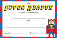 Teacher'S Pet  The Super Reader Award Certificate  Free for Free Reading Achievement Certificate Templates