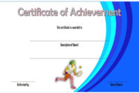 Tennis Achievement Certificate Templates 7 Fantastic intended for Printable Running Certificate Templates 10 Fun Sports Designs