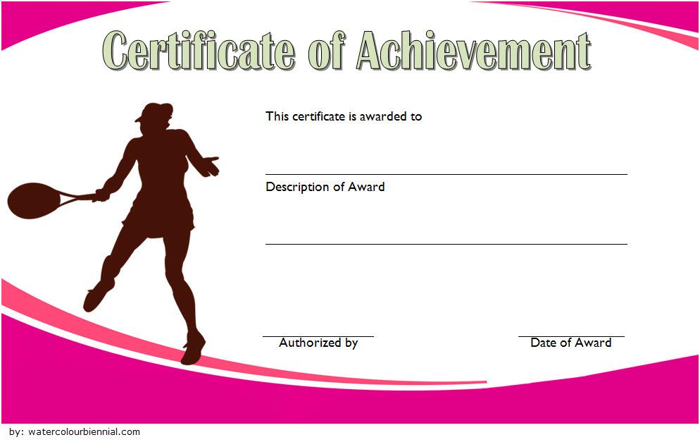 Tennis Achievement Certificate Templates 7 Fantastic throughout Badminton Certificate Template Free 12 Awards