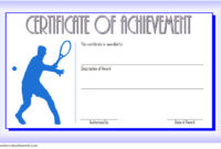 Tennis Achievement Certificate Templates 7 Fantastic with Badminton Certificate Template Free 12 Awards