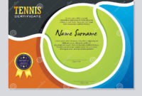 Tennis Certificate  Award Template With Colorful And pertaining to Tennis Certificate Template