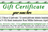 Tennis Gift Certificate Template  Best Templates Ideas with Quality Tennis Achievement Certificate Template