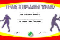 Tennis Tournament Certificate Templates 8 Sporty Designs regarding Best Coach Certificate Template Free 9 Designs