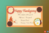 Thanksgiving Gift Certificate Template Happy Meal with regard to Amazing Dinner Certificate Template Free
