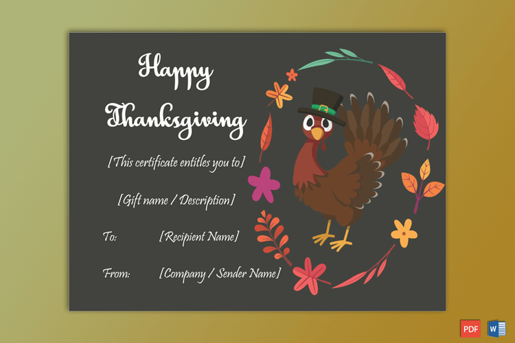 Thanksgiving Gift Certificate Template Multi 5620  Gct regarding Thanksgiving Gift Certificate Template Free