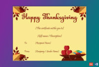 Thanksgiving Gift Certificate Template Skin 5619 In throughout Free Thanksgiving Gift Certificate Template Free