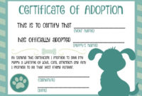 The 25 Best Adoption Certificate Ideas On Pinterest  Paw throughout Best Stuffed Animal Birth Certificate