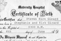 The Astonishing 018 Free Birth Certificate Template in Amazing Fake Birth Certificate Template