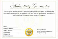 The Astonishing 30 Free Certificate Of Authenticity inside Printable Photography Certificate Of Authenticity Template