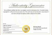 The Astonishing 30 Free Certificate Of Authenticity throughout Amazing Authenticity Certificate Templates Free