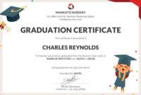 The Astounding Free Nursery Graduation Certificate within Free Graduation Gift Certificate Template Free