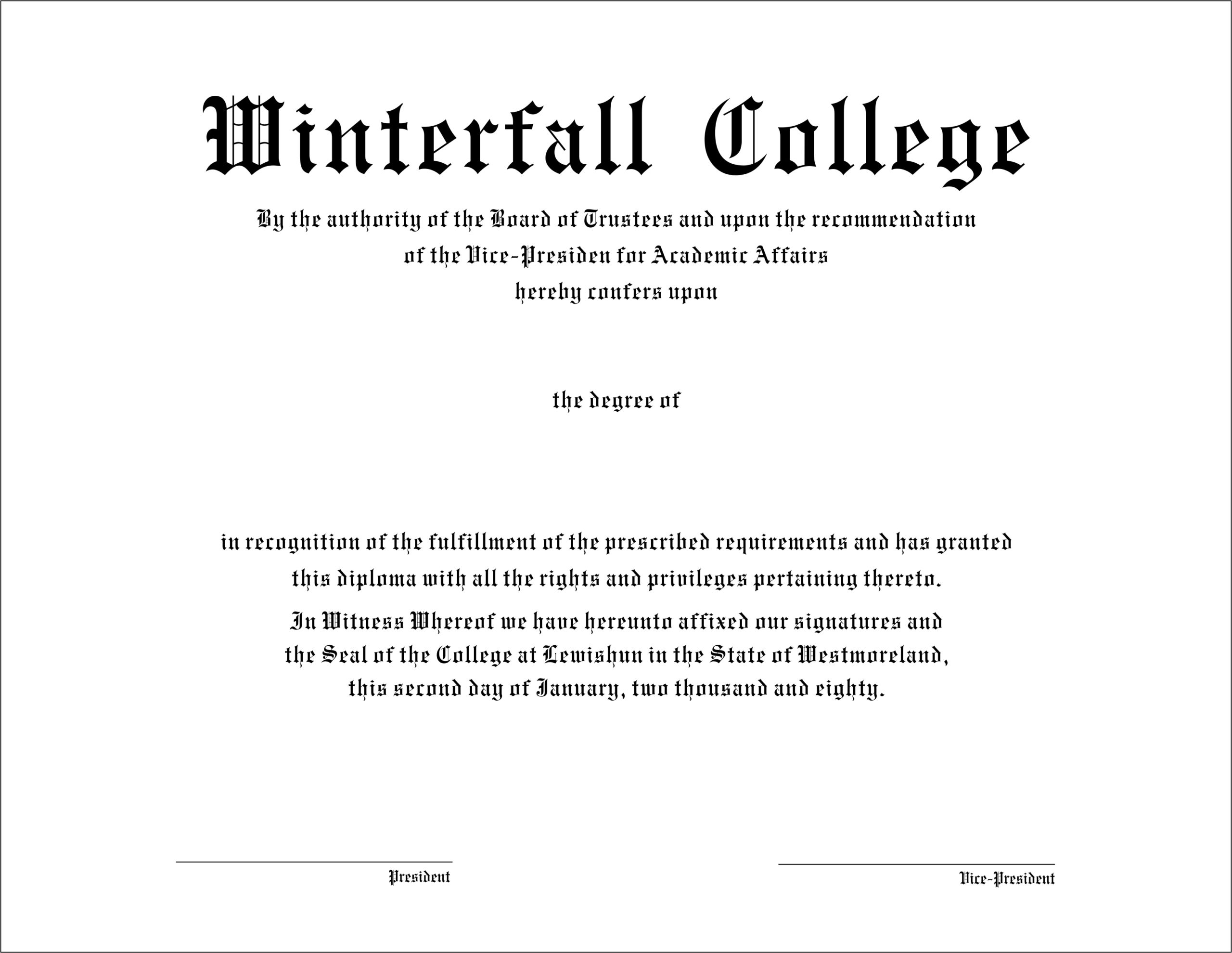 The Best Collection Of Diploma Templates For Every Purpose for Doctorate Certificate Template