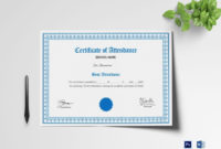 The Charming School Attendance Certificate Template With for Mock Certificate Template