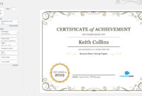 The Excellent Create A Certificate Of Recognition In with regard to Manager Of The Month Certificate Template