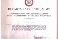 The Extraordinary 30 Certificate Of Achievement Army Form intended for Free Army Certificate Of Achievement Template