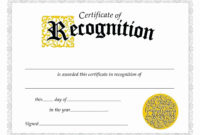 The Glamorous 025 Employee Recognition Certificates with regard to Amazing Free Template For Certificate Of Recognition