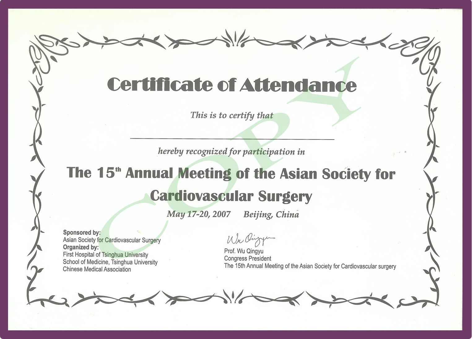The Glamorous Cme Certificate Template   Pics Photos Phd with regard to Quality Conference Participation Certificate Template