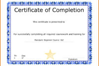 The Interesting 10 Microsoft Word Templates Certificates intended for Free Certificate Of Completion Free Template Word