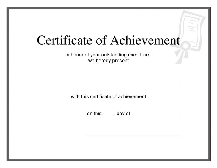 The Interesting Editable 25 Images Of Printable Promotion pertaining to Blank Certificate Of Achievement Template