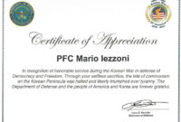 The Marvellous Veteran Certificate Of Appreciation within Free Army Certificate Of Achievement Template