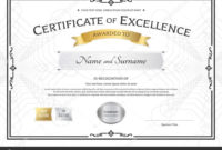 The Marvelous Award Of Excellence Certificate Template intended for Free Certificate Of Excellence Template