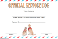 The Marvelous Training Completion Certificate Template For regarding Service Dog Certificate Template
