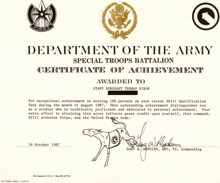 The Surprising 30 Army Award Certificate Template inside Free Army Certificate Of Achievement Template