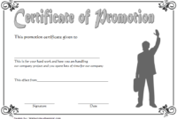The Terrific Certificate Of Job Promotion Template 7Th throughout Promotion Certificate Template
