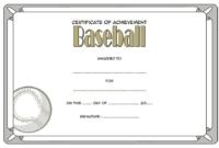 The Third Design Baseball Certificate Of Achievement Free for Word Certificate Of Achievement Template